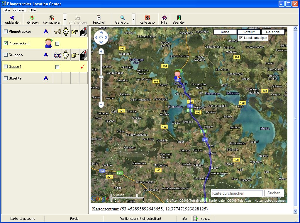 gps tracker software phonetracker location center v2.0